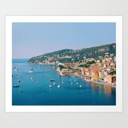 Colors of the French Riviera, Villefranche Art Print