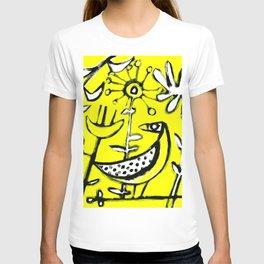 Sunlit Mid-Century Bird T-shirt