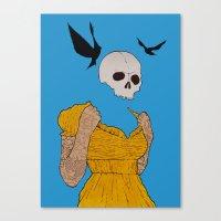 evil dead Canvas Prints featuring evil dead. by camden noir