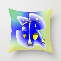 astrology Throw Pillows featuring Astrology, Aquarius by Karl-Heinz Lüpke