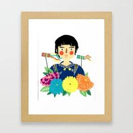 Flower Kite Framed Art Print
