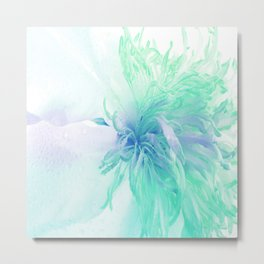 White Peony In A Different Light Metal Print
