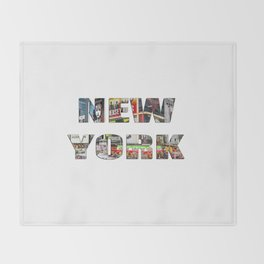 New York (typography) Throw Blanket