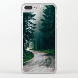 Eerie Dark Path (Color) Clear iPhone Case