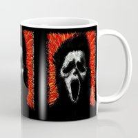 scream Mugs featuring Scream by brett66
