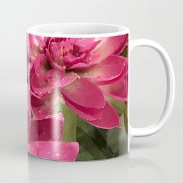 Red-Magenta Lily Pads in Pond Coffee Mug