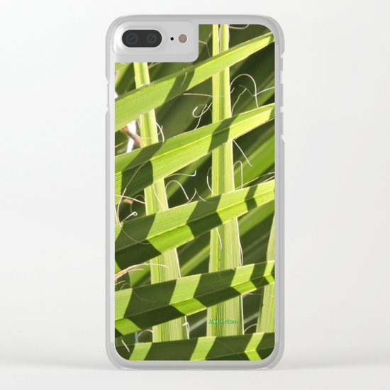 TEXTURES -- Palm Fronds Intersecting Clear iPhone Case