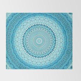 Coastal Spray Mandala Throw Blanket