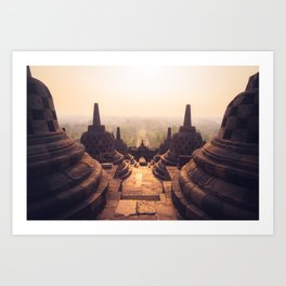 Borobudur Temple Sunrise Art Print