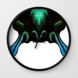Green Swallowtail Butterfly Wall Clock