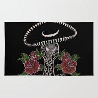dia de los muertos Area & Throw Rugs featuring Dia De Los Muertos by Erin Rose