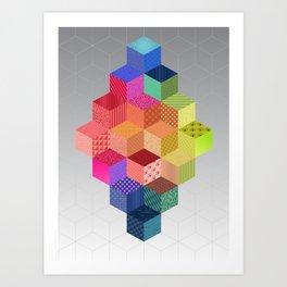 RAINBOW GEOMETRY Art Print