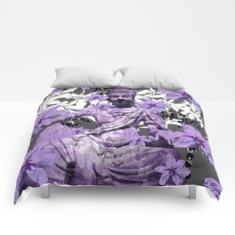 CHINA ANTIQUITIES YESTERDAY MEETS TODAY IN PURPLE AND WHITE Comforters