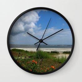 East  Beach -  Golden IsIes Wall Clock