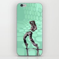 hiphop iPhone & iPod Skins featuring B GIRL - vanguard style by ARTito