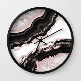 Agate Glitter Glam #4 #gem #decor #art #society6 Wall Clock