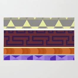Multi Coloured Geometric Pattern Rug