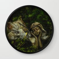fairy Wall Clocks featuring Fairy by Mark Spence