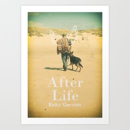 After Life poster, Ricky Gervais, tv series, after-life, British black comedy Art Print