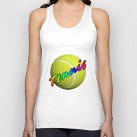 tennis Tank Tops featuring Tennis by Jimbob1979