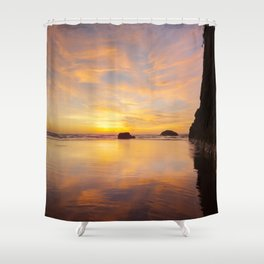 The Cliff At Moonstone Shower Curtain