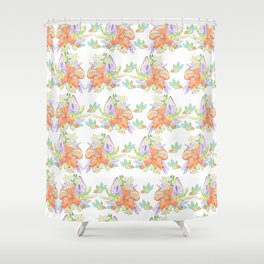Tropical Leilee Hawaiian Flower Print Shower Curtain