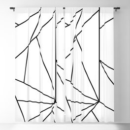 Abstract Modern Black White Trendy Geometrical Blackout Curtain