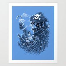 BlackBeard Art Print
