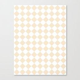 Diamonds - White and Champagne Orange Canvas Print