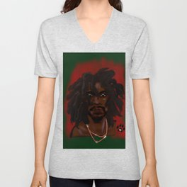 Loc'd King Unisex V-Neck