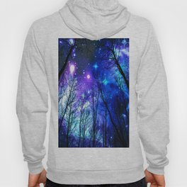 black trees purple blue space Hoody