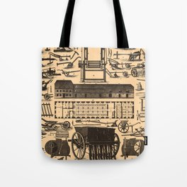 Historical Farm Equipment Illustration (1907) Tote Bag