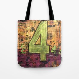 Journey by Number: 4 Repeated Tote Bag