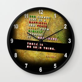 No Such Thing Wall Clock