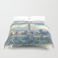 canada Duvet Covers featuring Ontario Canada by Moonlake Designs