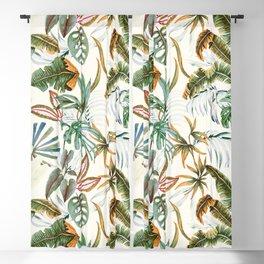 Watercolor tropical nature Blackout Curtain