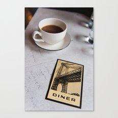 New York Diner Canvas Print