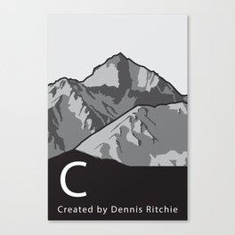 C Programming Landscape poster Canvas Print