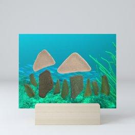 Sea Glass Mushrooms #mushrooms #seaglass #ocean Mini Art Print