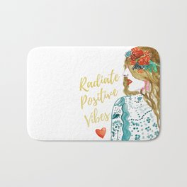 Radiate Positive Vibes Bath Mat