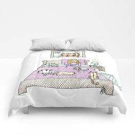 Cats bedtime Comforters