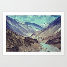 Indian Mountains Art Print