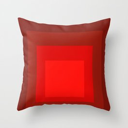 Block Colors - Reds Throw Pillow