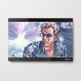 """Jurassic Park : Jeff Goldblum/Ian Malcom : """"Chaotician 4 / 4"""" Metal Print"""