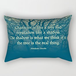 Tree of Character VINTAGE BLUE / Deep thoughts by Abe Lincoln Rectangular Pillow