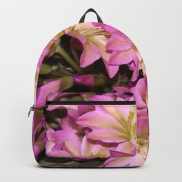 Purple Pink Romantic Flowers Backpack