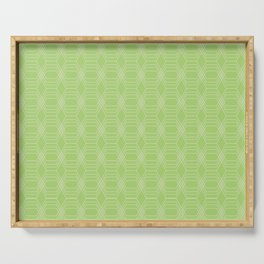 hopscotch-hex bright green Serving Tray