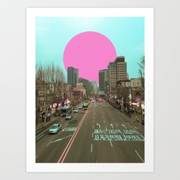 首爾落日 /// Seoul Sunset Art Print