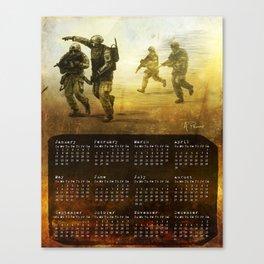 2017 Calendar Canvas Print