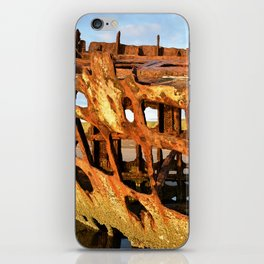 The Wreck of the Peter Iredale iPhone Skin